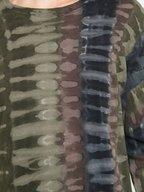 Raquel Allegra - Forest Green Tie-Dye Long Sleeve Top