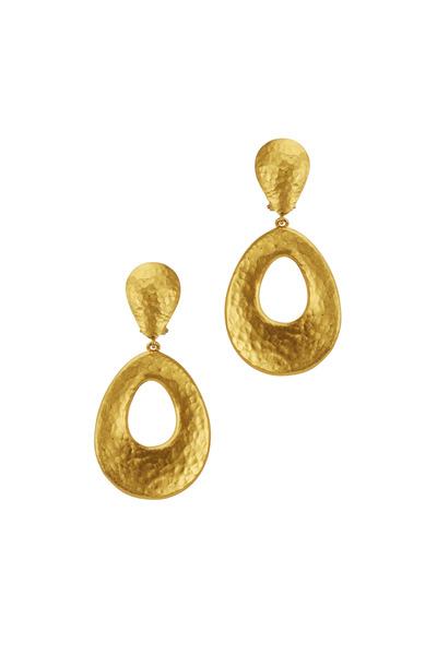 Yossi Harari - Roxanne Yellow Gold Chandelier Earrings
