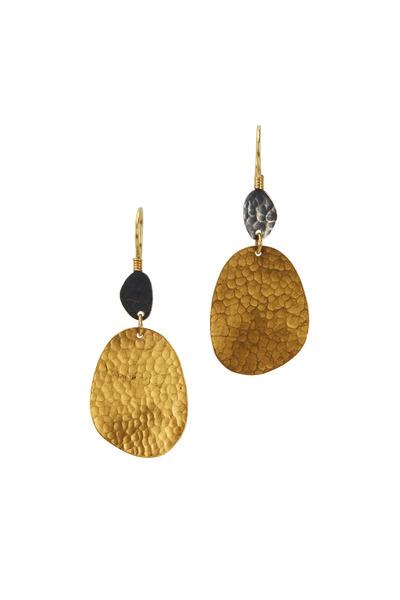 Yossi Harari - Yellow Gold & Silver Earrings