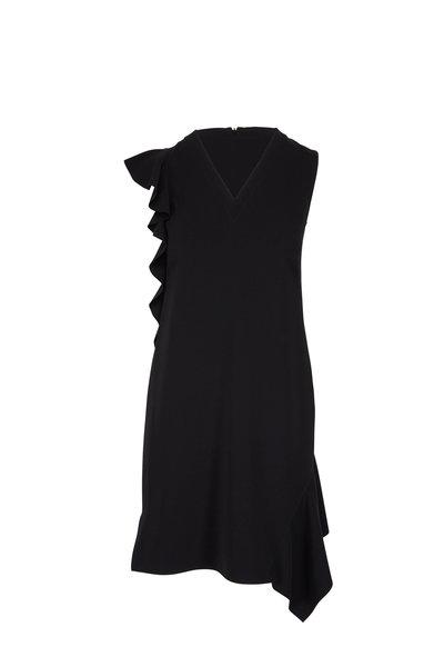Akris Punto - Black Lasercut Ruffle Sleeveless Dress