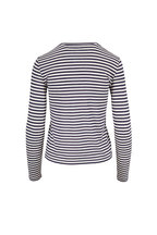 Vince - Natural & Marine Stripe Long Sleeve T-Shirt