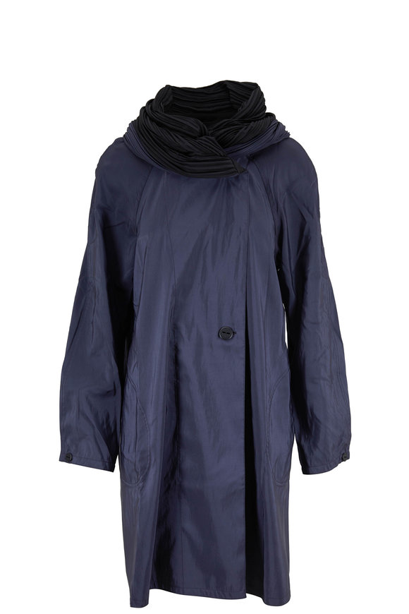 Mycra Pac Donatella Sapphire & Black Reversible Travel Coat