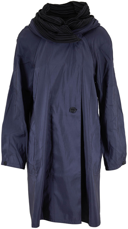 Mycra Pac Donatella Sapphire & Black Reversible Travel Coat