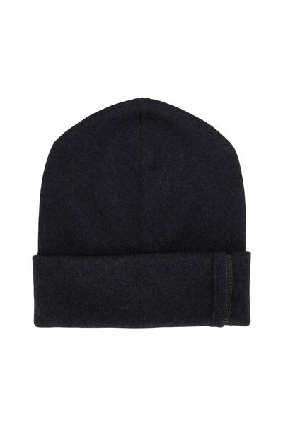 Brunello Cucinelli - Exclusively Ours! Onyx Cashmere & Monili Tab Hat