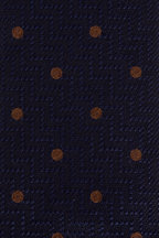 Eton - Navy Blue Dot Silk Necktie