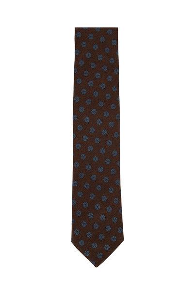 Eton - Brown Floral Silk Necktie