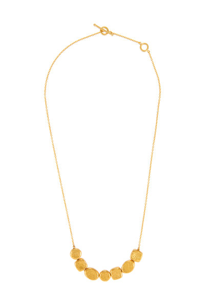Yossi Harari - Roxanne Yellow Gold Mini Elements Round Necklace