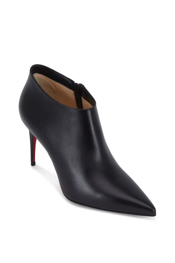 Christian Louboutin Gorgona Black Leather Ankle Boot, 85mm