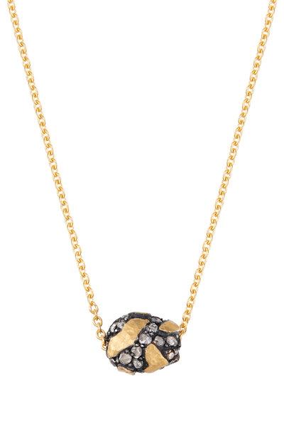 Yossi Harari - Helen Yellow Gold & Silver Diamond Bead Necklace