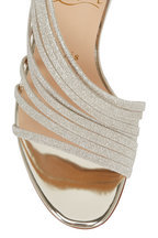 Christian Louboutin - Norina Gold Glitter Strappy Sandal, 100mm