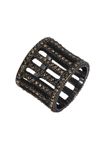 Yossi Harari - 18K Gold & Silver Diamond Cage Lilah Ring