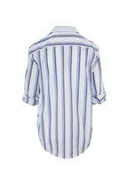 Frank & Eileen - Eileen White & Blue Vertical Stripe Button Down