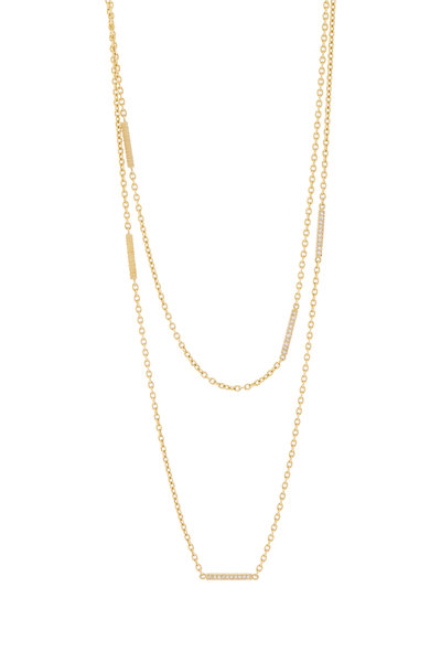 Yossi Harari - Lilah Yellow Gold Diamond Wrap Necklace