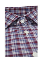 Ermenegildo Zegna - Burgundy Plaid Classic Fit Sport Shirt