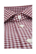 Ermenegildo Zegna - Burgundy & White Check Classic Fit Sport Shirt