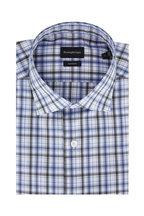 Ermenegildo Zegna - Blue & Hunter Green Plaid Classic Fit Sport Shirt