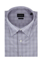 Ermenegildo Zegna - Lavender & Gray Plaid Classic Fit Sport Shirt