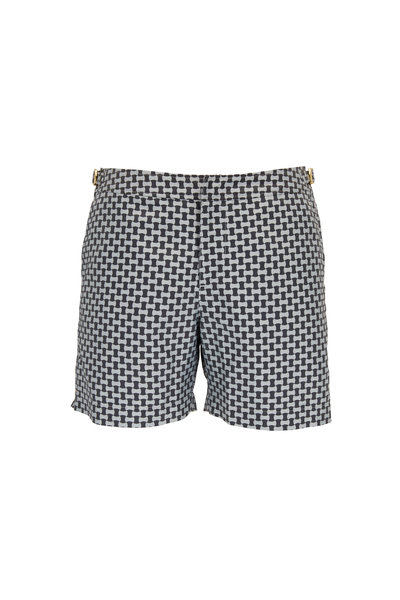 Orlebar Brown - Bulldog X Torsoloe Pewter Printed Swim Trunks