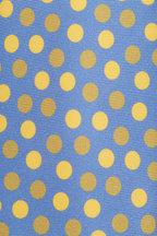 Kiton - Blue & Yellow Silk Dot Necktie