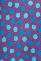 Kiton - Purple & Blue Silk Dot Necktie