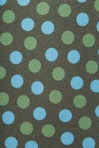 Kiton - Green & Blue Silk Dot Necktie