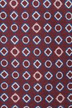 Kiton - Maroon Silk Geometric Necktie