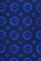 Kiton - Navy Silk Medallion Necktie
