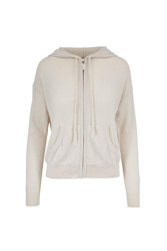 Nili Lotan Emmaline Ivory Cashmere Zip Front Hoodie