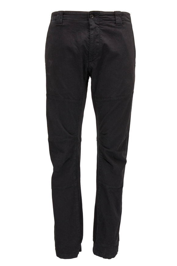 CP Company Black Tapered Elastic Cuff Pant