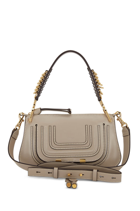 Chloé Marcie Motty Gray Ring Detail Shoulder Bag