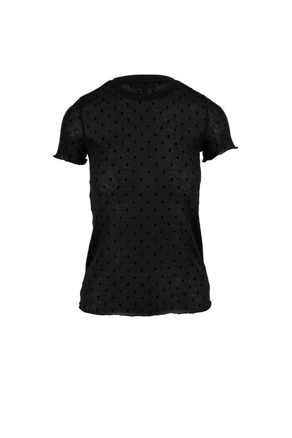 Rag & Bone Bre Black Swiss Dot Short Sleeve T-Shirt