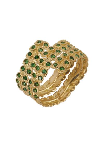 Jamie Wolf - Yellow Gold Tsavorite Wrapped Vine Ring