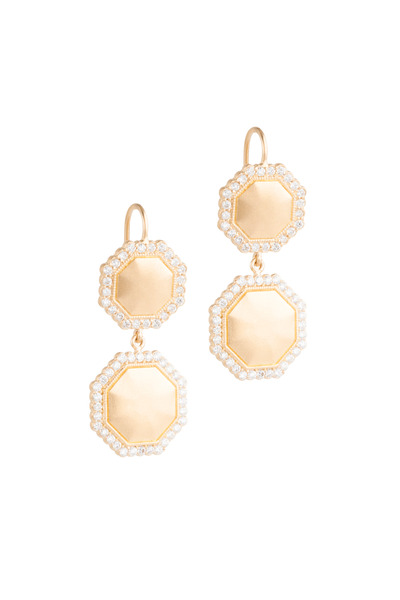 Jamie Wolf - Yellow Gold Double Octagon Diamond Earrings