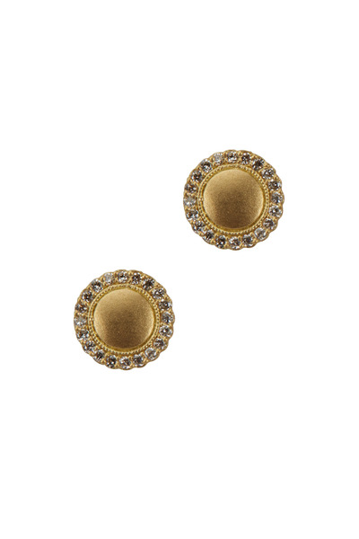 Jamie Wolf - Yellow Gold Scalloped Edge Diamond Stud Earrings