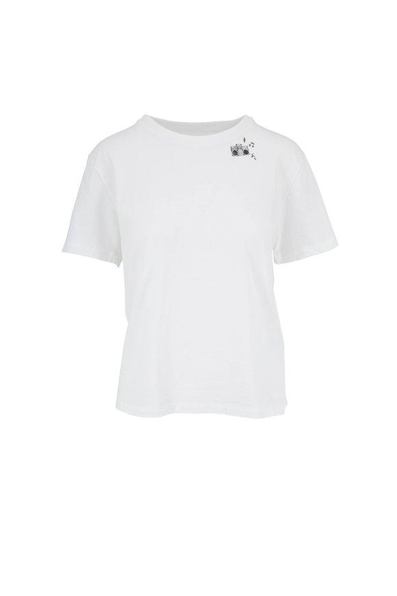 Saint Laurent White Boombox Graphic T-Shirt