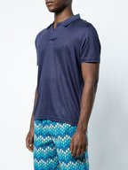Vilebrequin - Pyramid Navy Linen Jersey Short Sleeve Polo