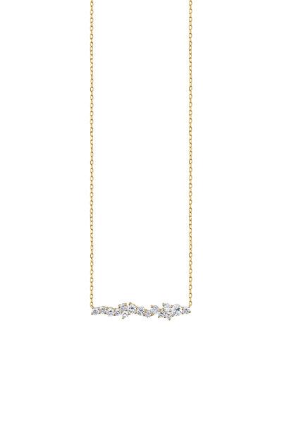 Sydney Evan - Yellow Gold Short Diamond Bar Necklace