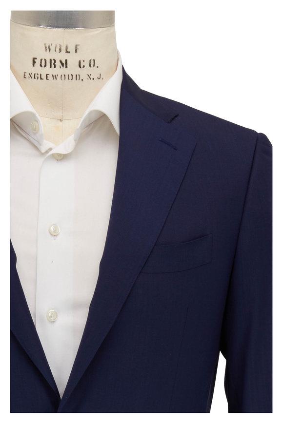 Canali Capri Navy Blue Wool Sportcoat