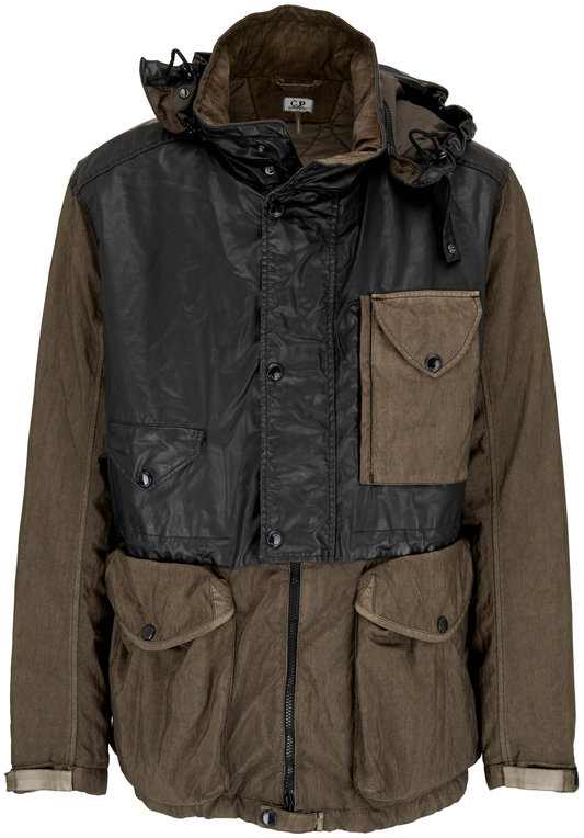 CP Company Quartz Contrast Dusty Olive Hooded Goggle Jacket