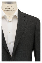 Canali - Kei Charcoal Gray Tonal Texture Wool Sportcoat