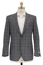 Canali - Light Gray & Navy Blue Glenplaid Wool Sportcoat