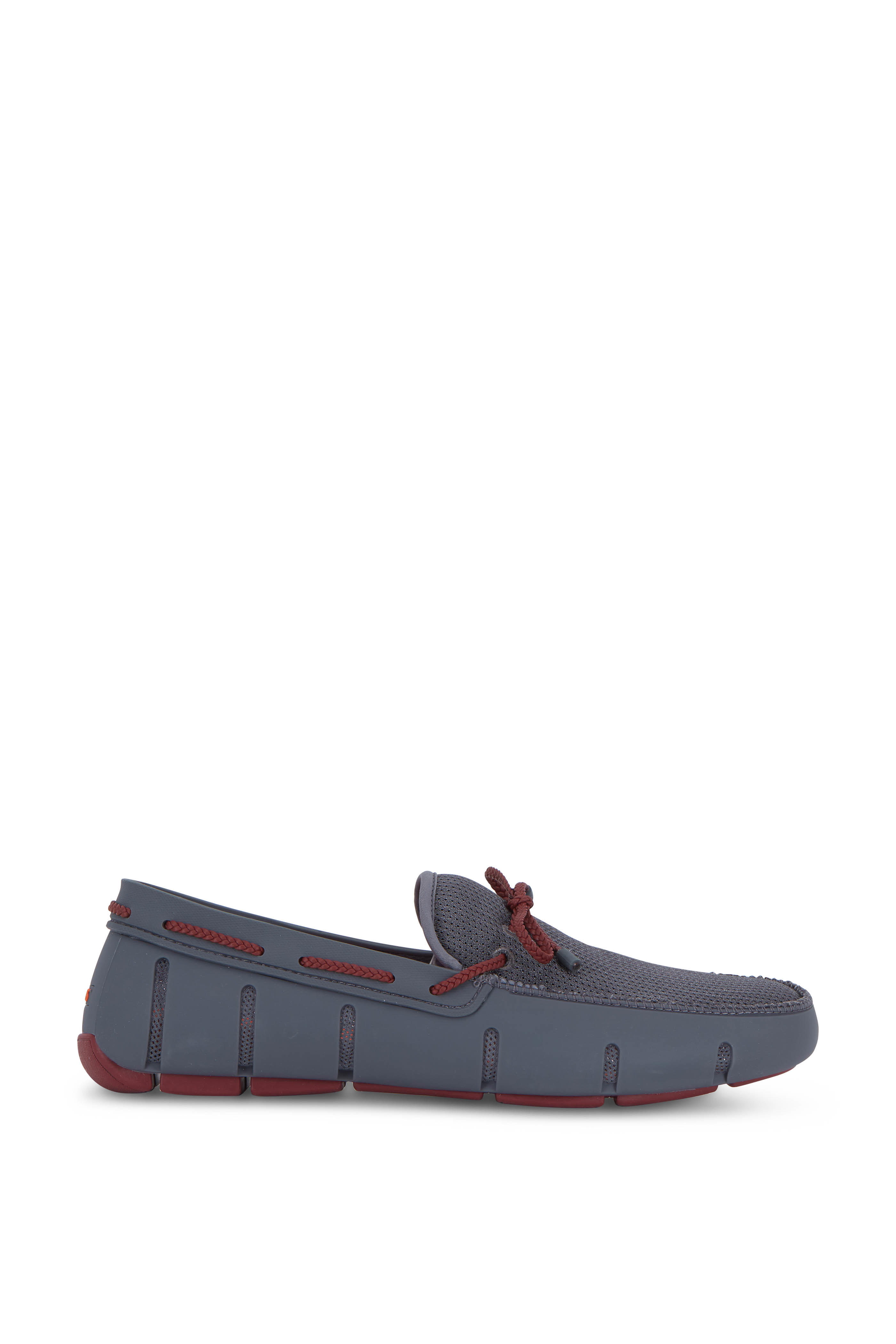 b91d000a2d1d1 Swims - Gray & Cabernet Braided Lux Driver | Mitchell Stores