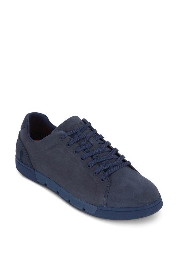Swims Breeze Navy Blue Suede Tennis Sneaker