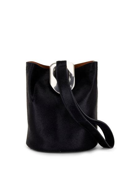 Bottega Veneta - Drop Bag Midnight Pony Hair Small Bucket Bag