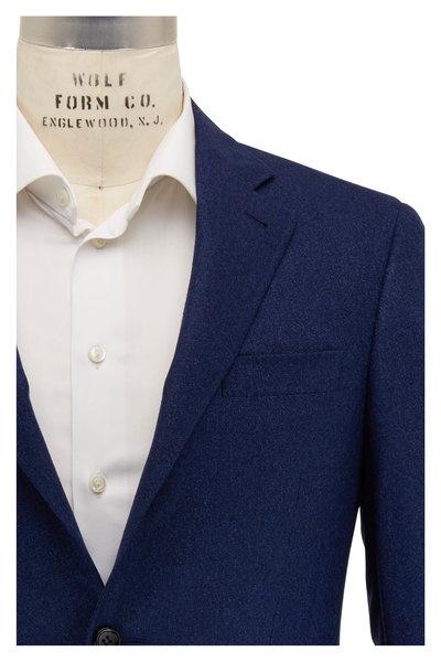 Canali - Tonal Navy Textured Wool Sportcoat