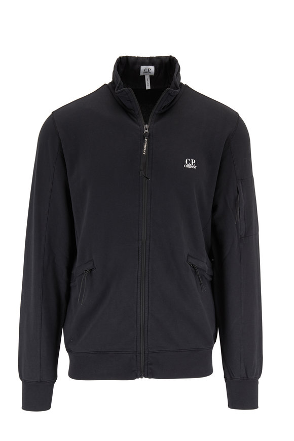CP Company Black Front Zip Knit Jacket