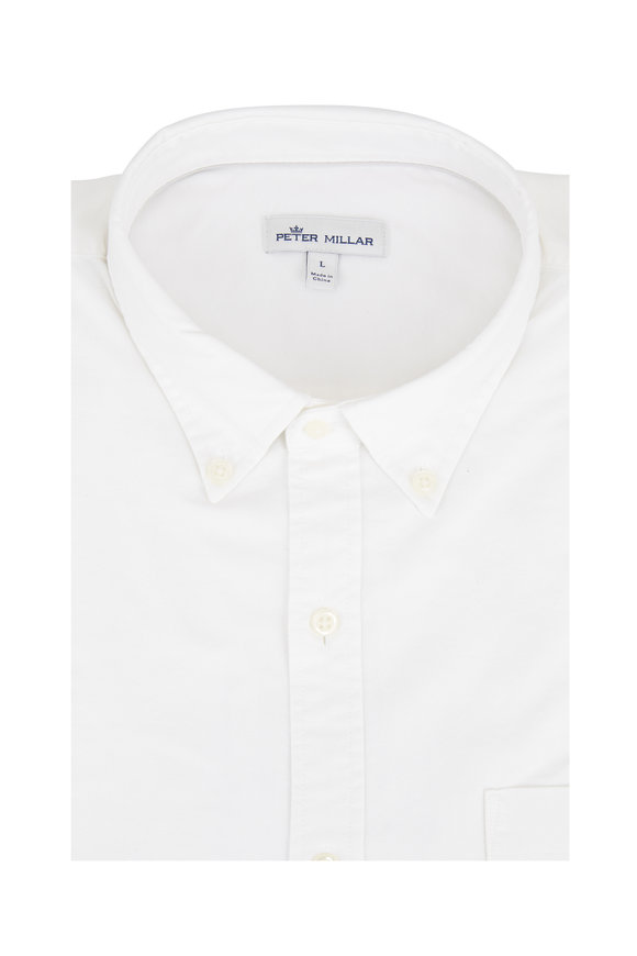 Peter Millar White Vintage Washed Sport Shirt