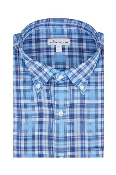 Peter Millar - Blue Oak Bluffs Plaid Sport Shirt
