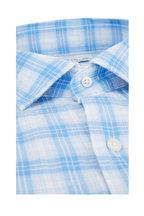 Peter Millar - Light Blue Hampton Beach Tartan Sport Shirt