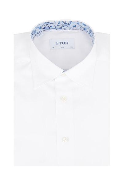 Eton - White Signature Twill Slim Fit Sport Shirt